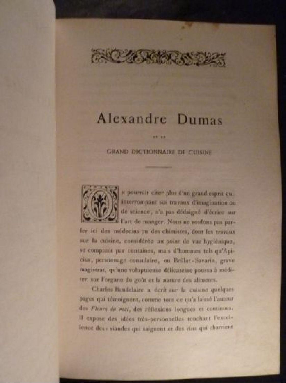 Dumas grand dictionnaire de cuisine edition originale edition - Dictionnaire cuisine francais ...