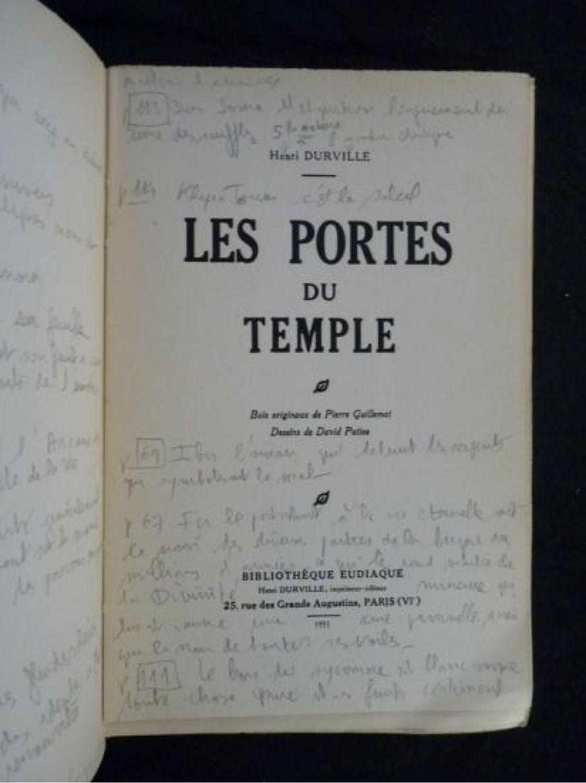 Durville les portes du temple edition originale - Les portes du penitencier version originale ...