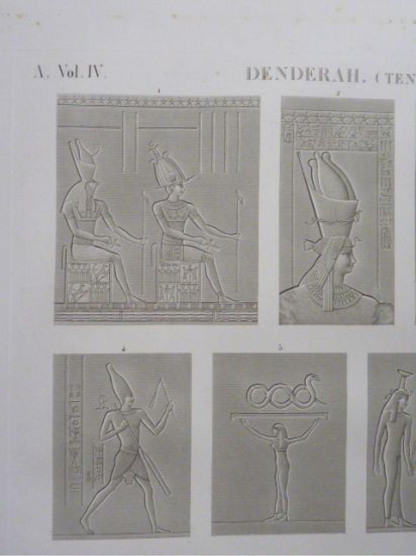 Dutertre Description De Legypte Denderah Tentyris Divers Bas Reliefs Dessines Zodiaque Images