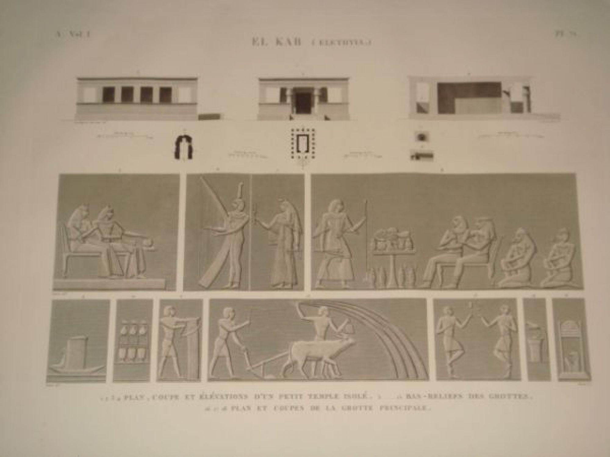 Elevation D Un Plan : Description de l egypte el kab elethyia plan coupe et