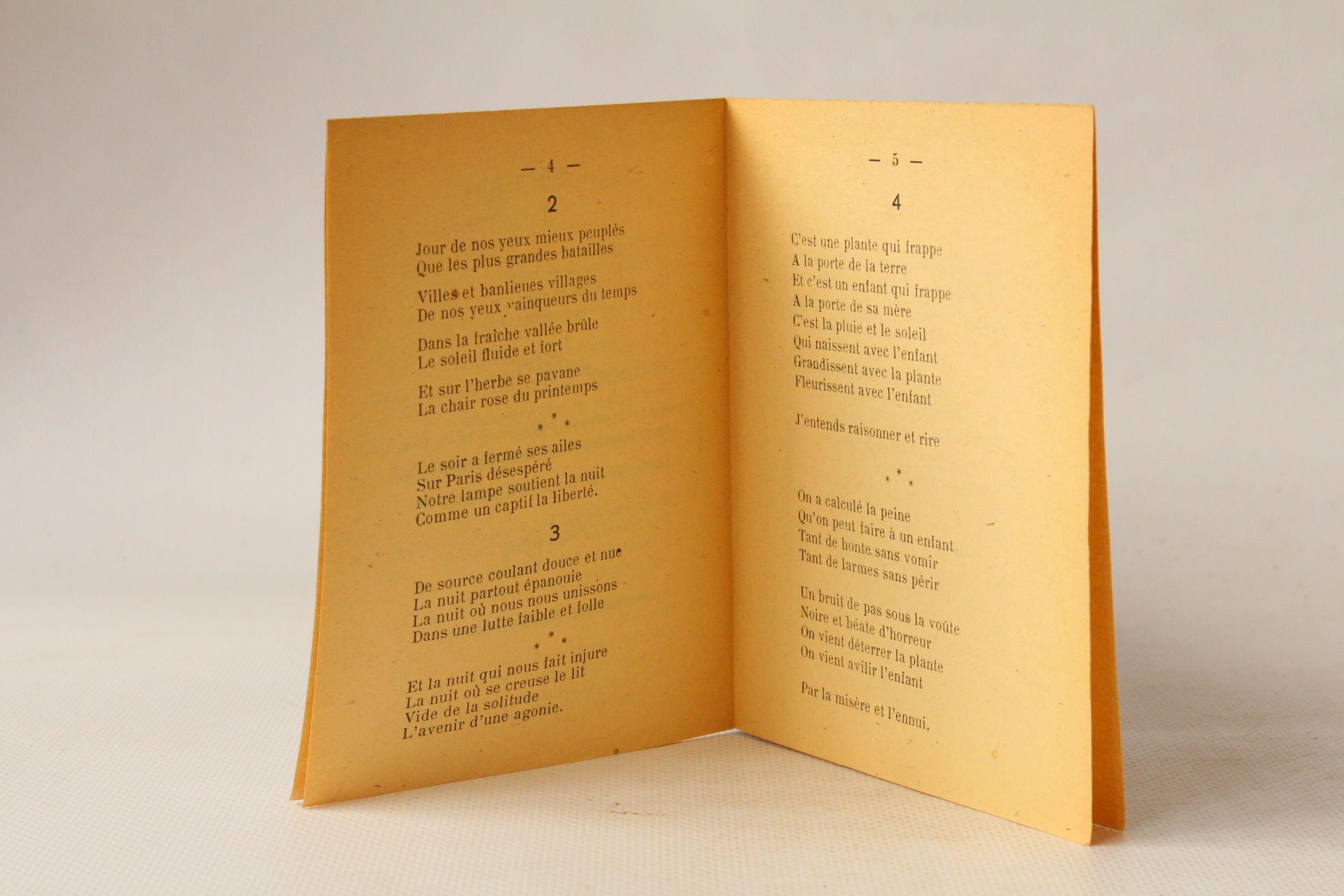 Eluard Les Sept Poèmes Damour En Guerre First Edition