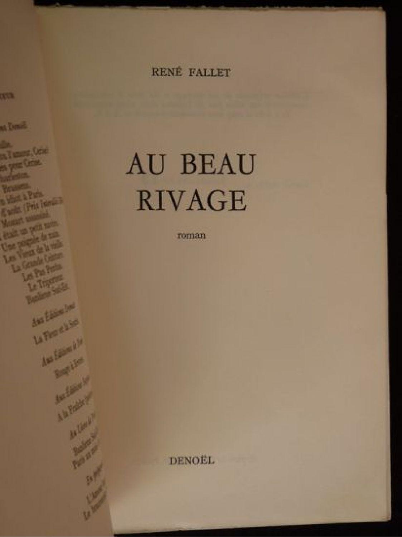 Fallet au beau rivage edition originale edition for Au beau rivage la cuisine