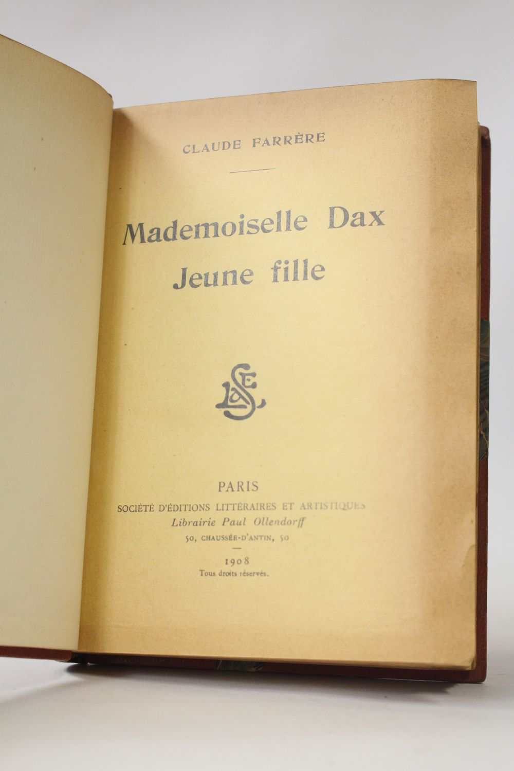 FARRERE : Mademoiselle Dax jeune fille - First edition - Edition