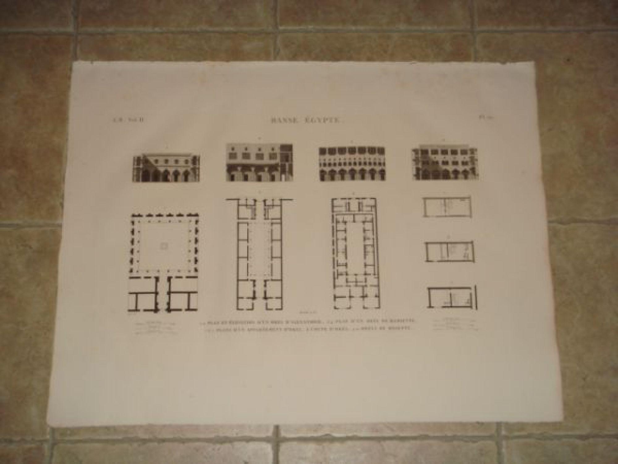 Elevation Plan Description : Description de l egypte basse plan et élévation d