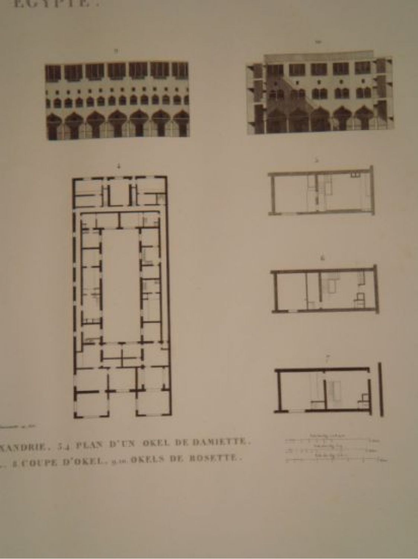 Elevation D Un Plan : Description de l egypte basse plan et élévation d