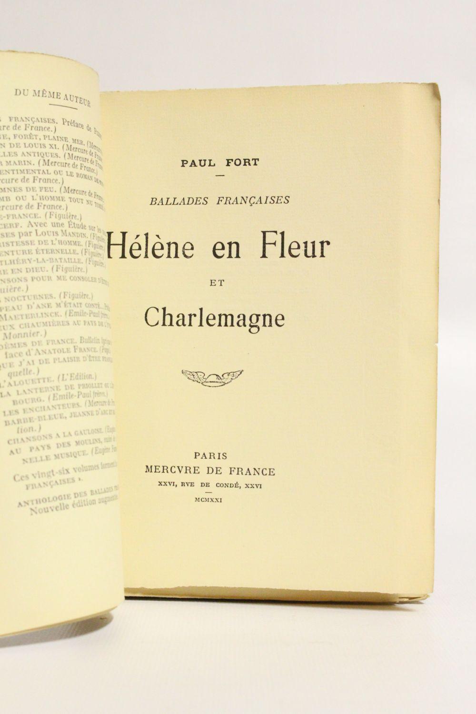 Fort Helene En Fleur Et Charlemagne First Edition Edition
