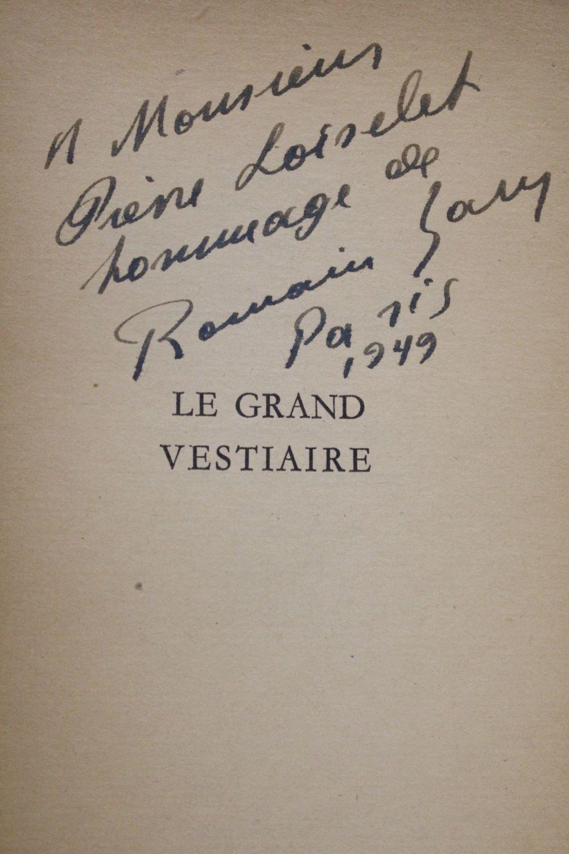 gary le grand vestiaire autographe edition originale edition. Black Bedroom Furniture Sets. Home Design Ideas
