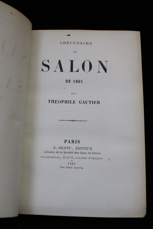 Gautier ab c daire du salon de 1861 edition originale for Salon gautier