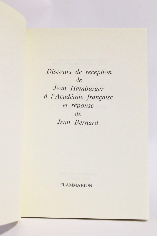 hamburger discours de r 233 ception de jean hamburger 224 l acad 233 mie fran 231 aise et r 233 ponse de jean