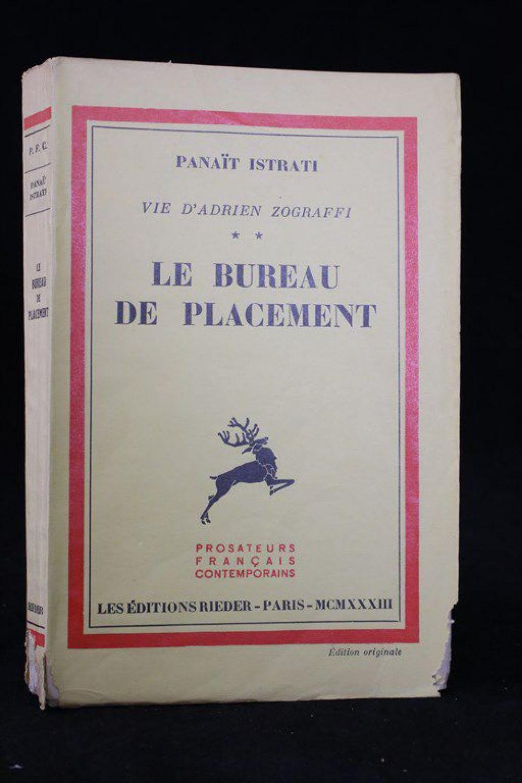 istrati le bureau de placement edition originale edition