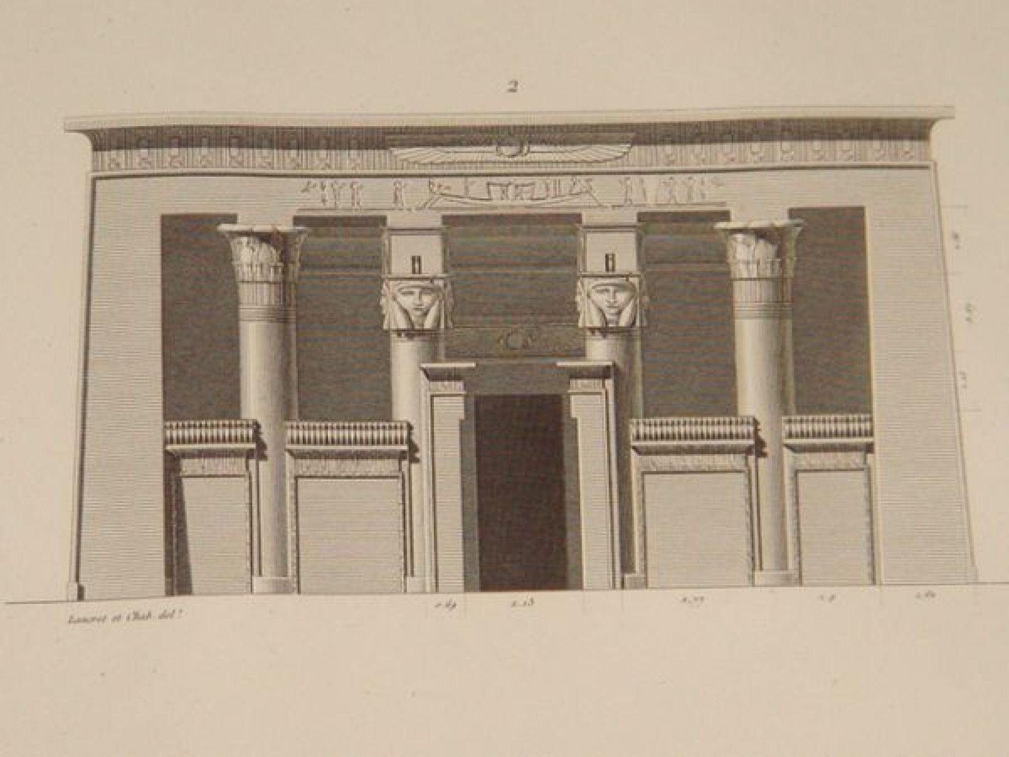 Elevation D Un Plan Archi : Description de l egypte environs d esné contralato
