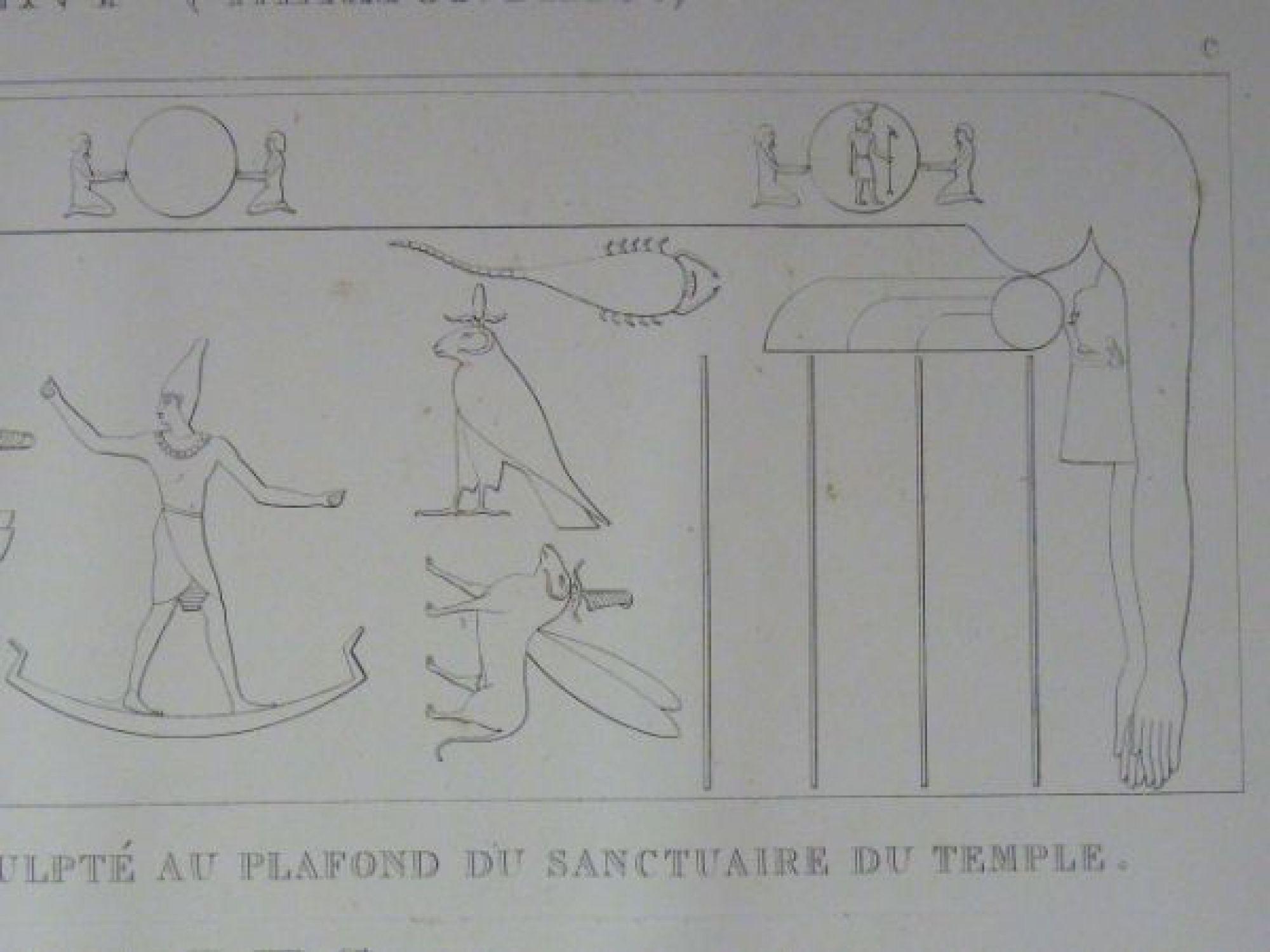 description de l 39 egypte erment hermonthis bas relief astronomique sculpt au plafond du. Black Bedroom Furniture Sets. Home Design Ideas