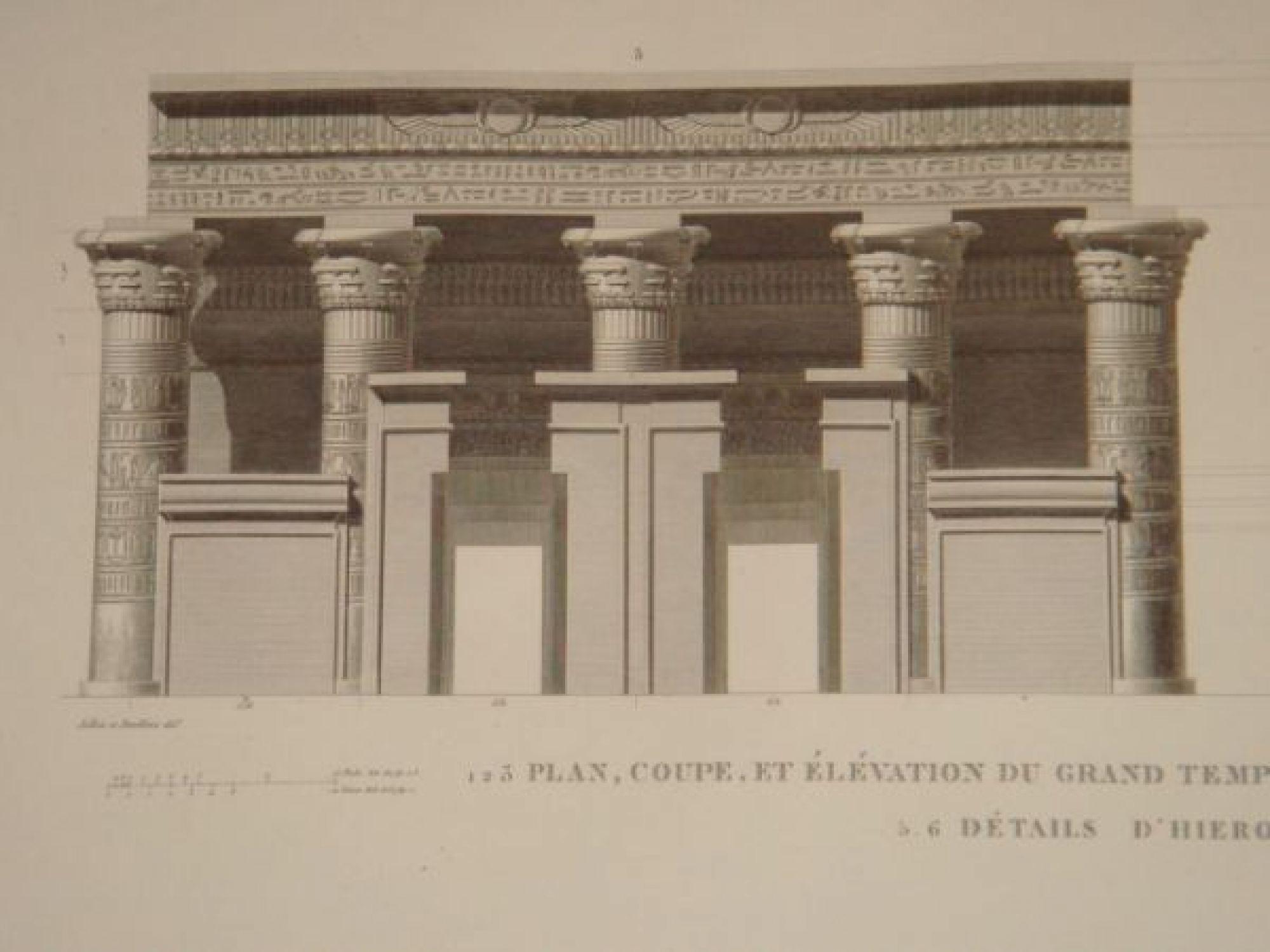 Elevation Plan Description : Description de l egypte koum omboû ombos plan coupe