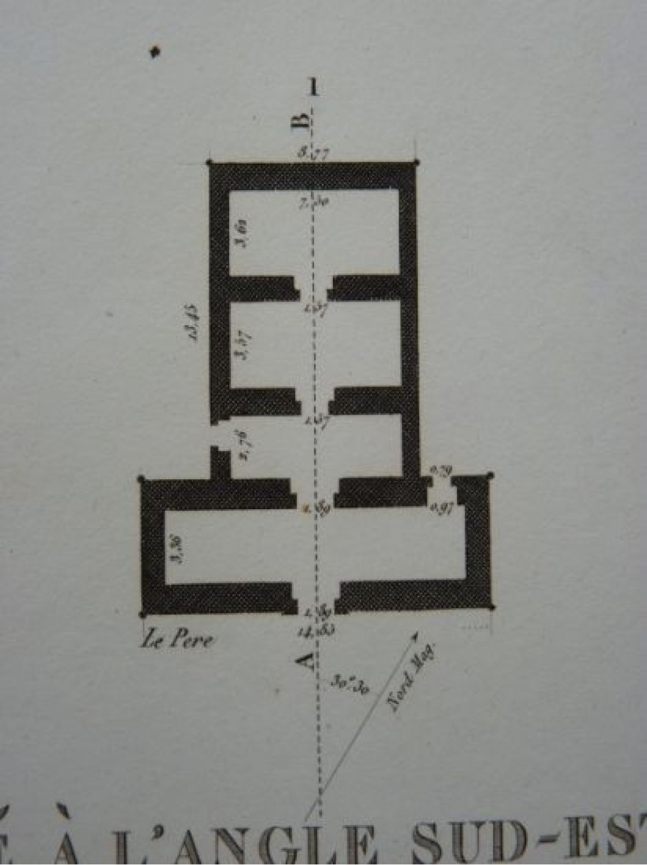 Plan Elevation En Anglais : Description de l egypte thèbes medynet abou plan