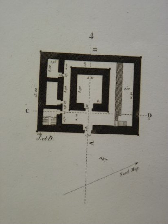 Elevation Plan Coupe : Description de l egypte thèbes medynet abou plan