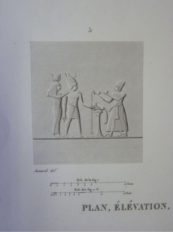 Elevation Plan Description : Description de l egypte thèbes medynet abou plan