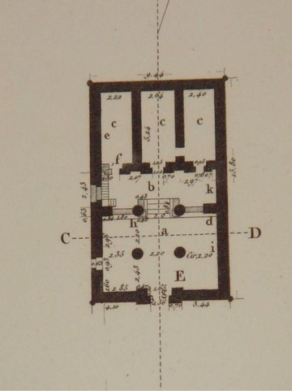 Elevation Plan Description : Description de l egypte thèbes memnomium plan