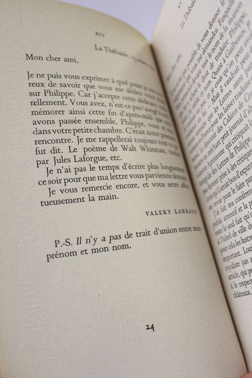 Larbaud Lettres à André Gide First Edition Edition