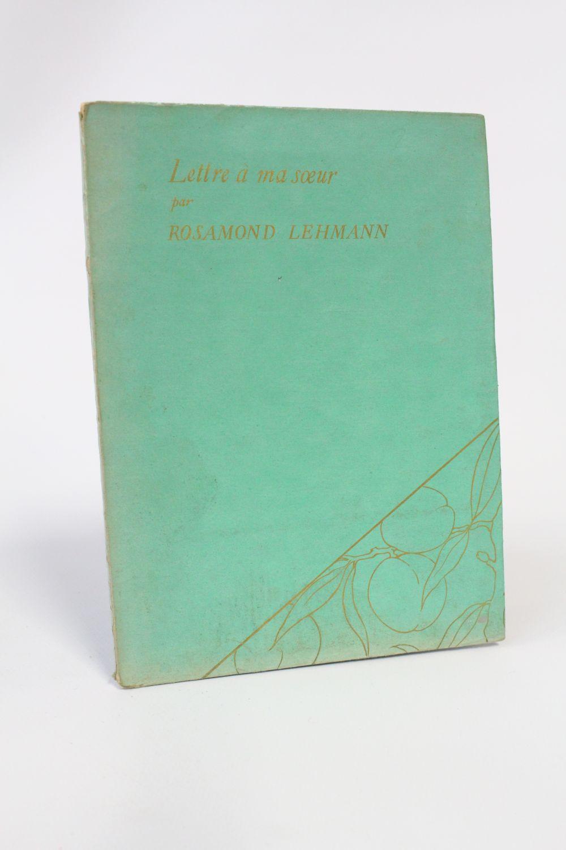 Lehmann Lettre à Ma Soeur First Edition Edition