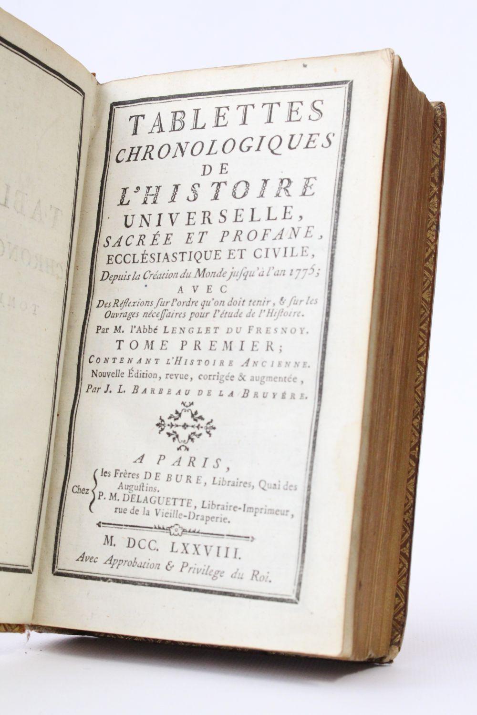 LENGLET DU FRESNOY : Tablettes chronologiques de l ...