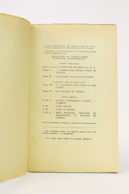 mac orlan quand j 39 apprenais faire l 39 amour first edition edition. Black Bedroom Furniture Sets. Home Design Ideas