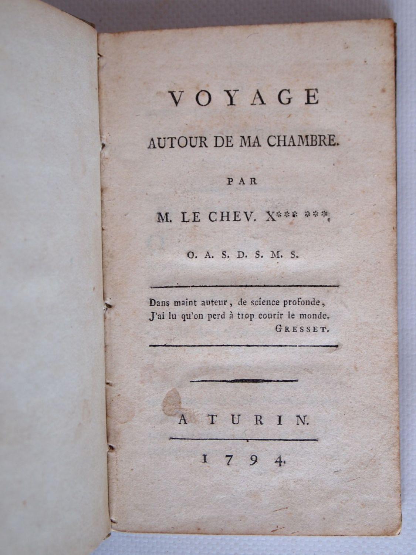 Maistre voyage autour de ma chambre edition originale for Autour de ma chambre