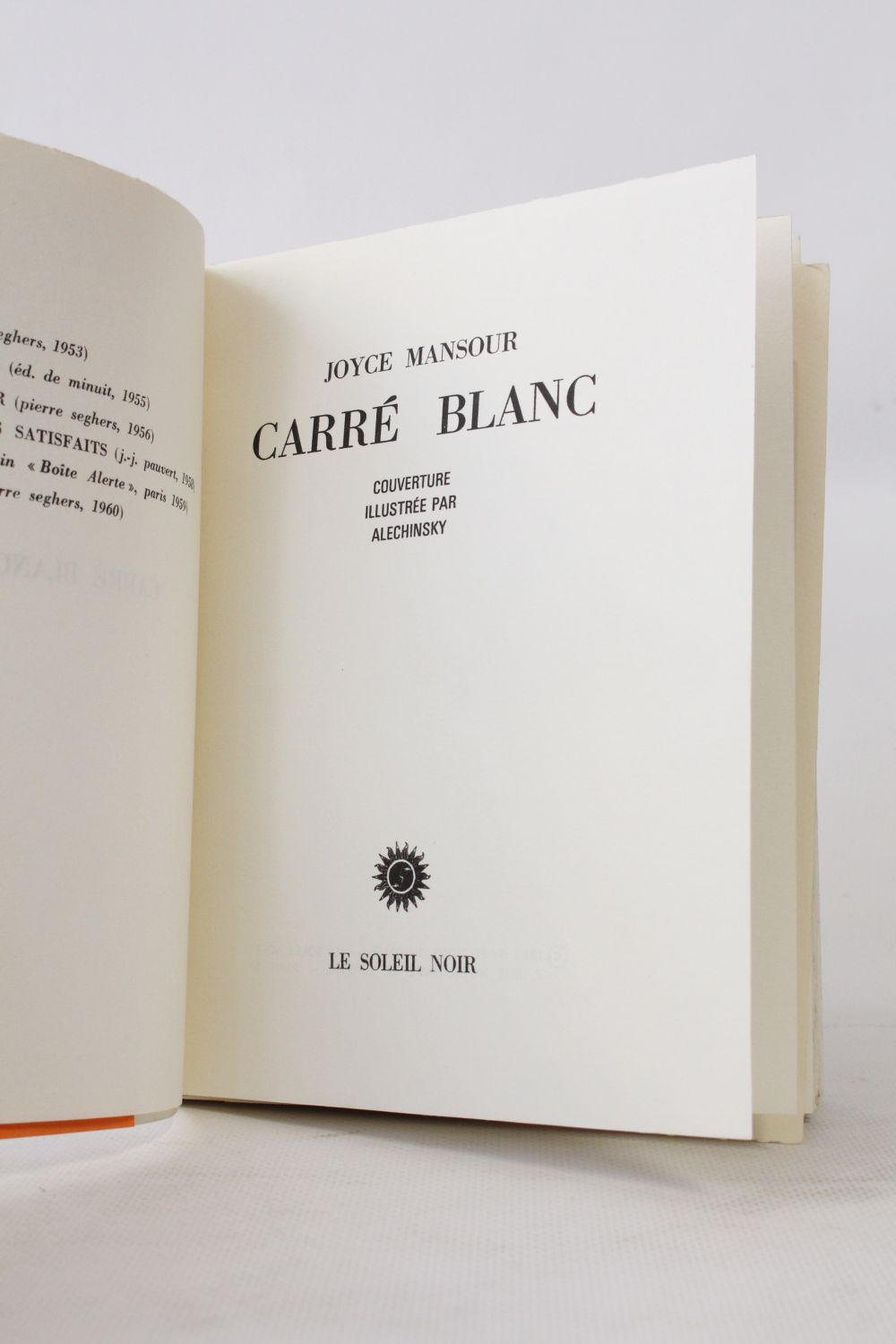 Carr Blanc Signed Book First Edition Edition Originale Com