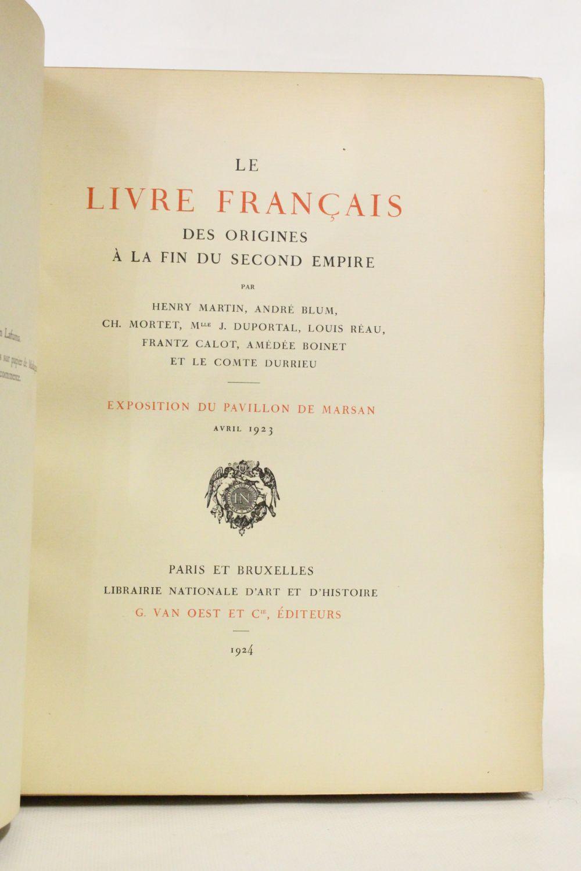 Martin Le Livre Francais Des Origines A La Fin Du Second
