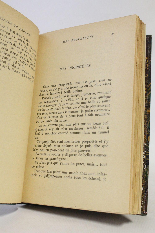 Michaux L Espace Du Dedans Signed Book First Edition