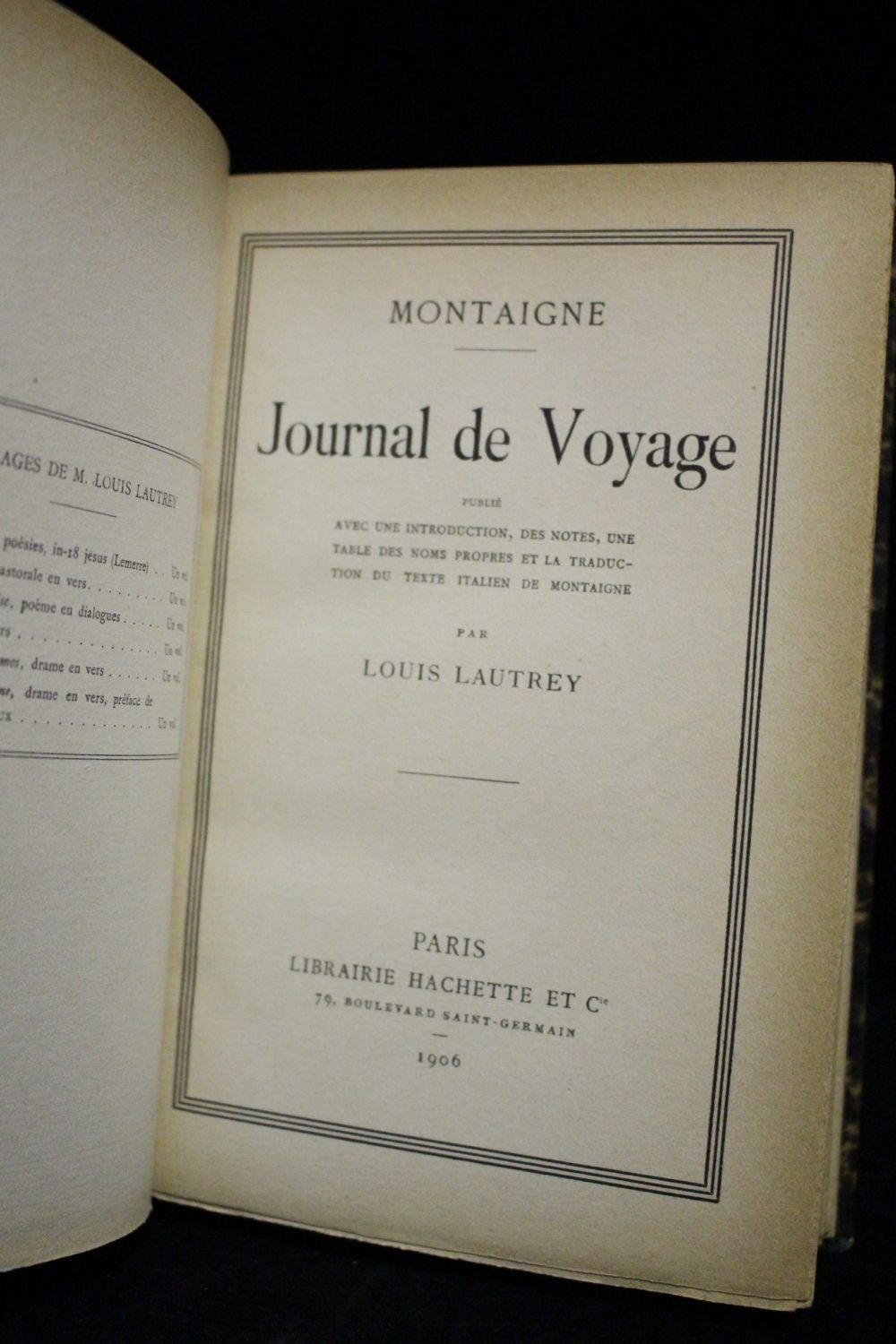 montaigne journal de voyage edition. Black Bedroom Furniture Sets. Home Design Ideas
