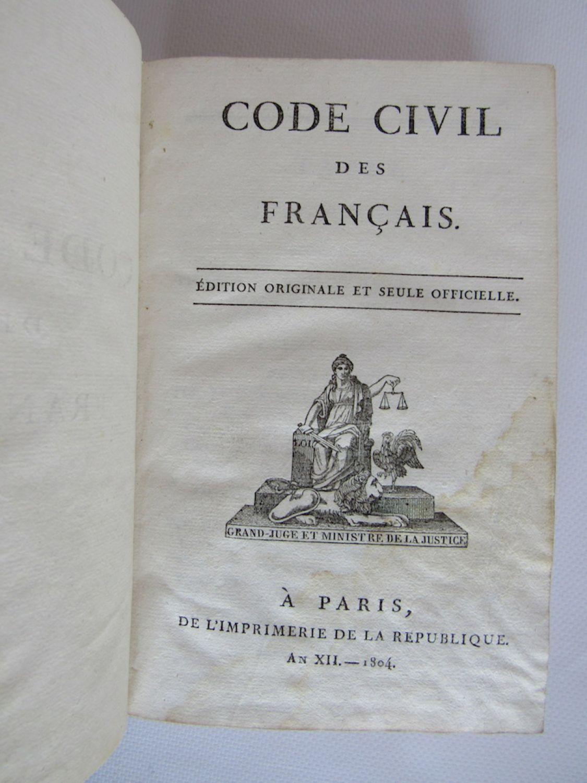 Napoleon 1er   Code Civil Des Fran U00e7ais  Edition Originale