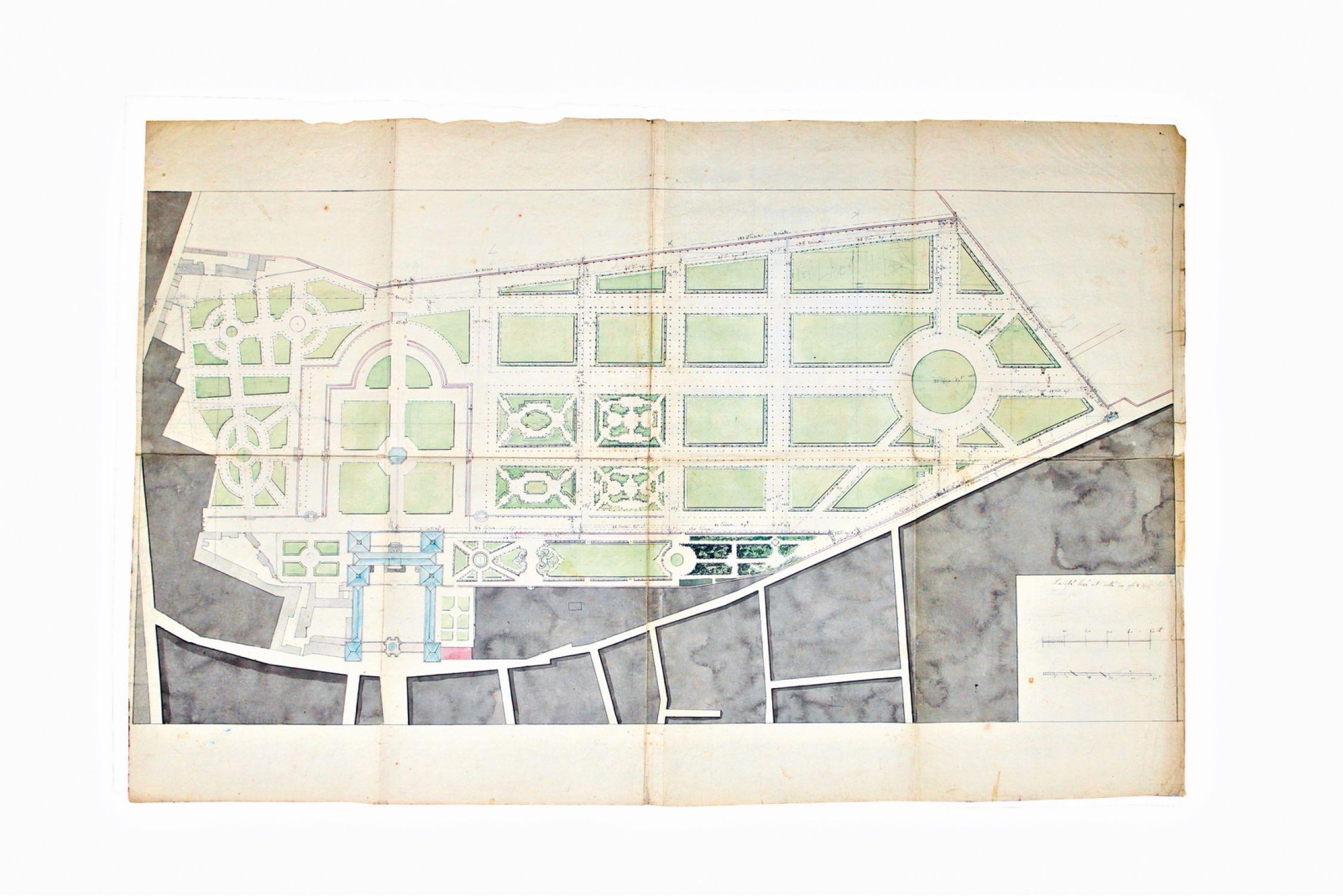 ANONYME Plan général du jardin du Palais du Luxembourg Signed