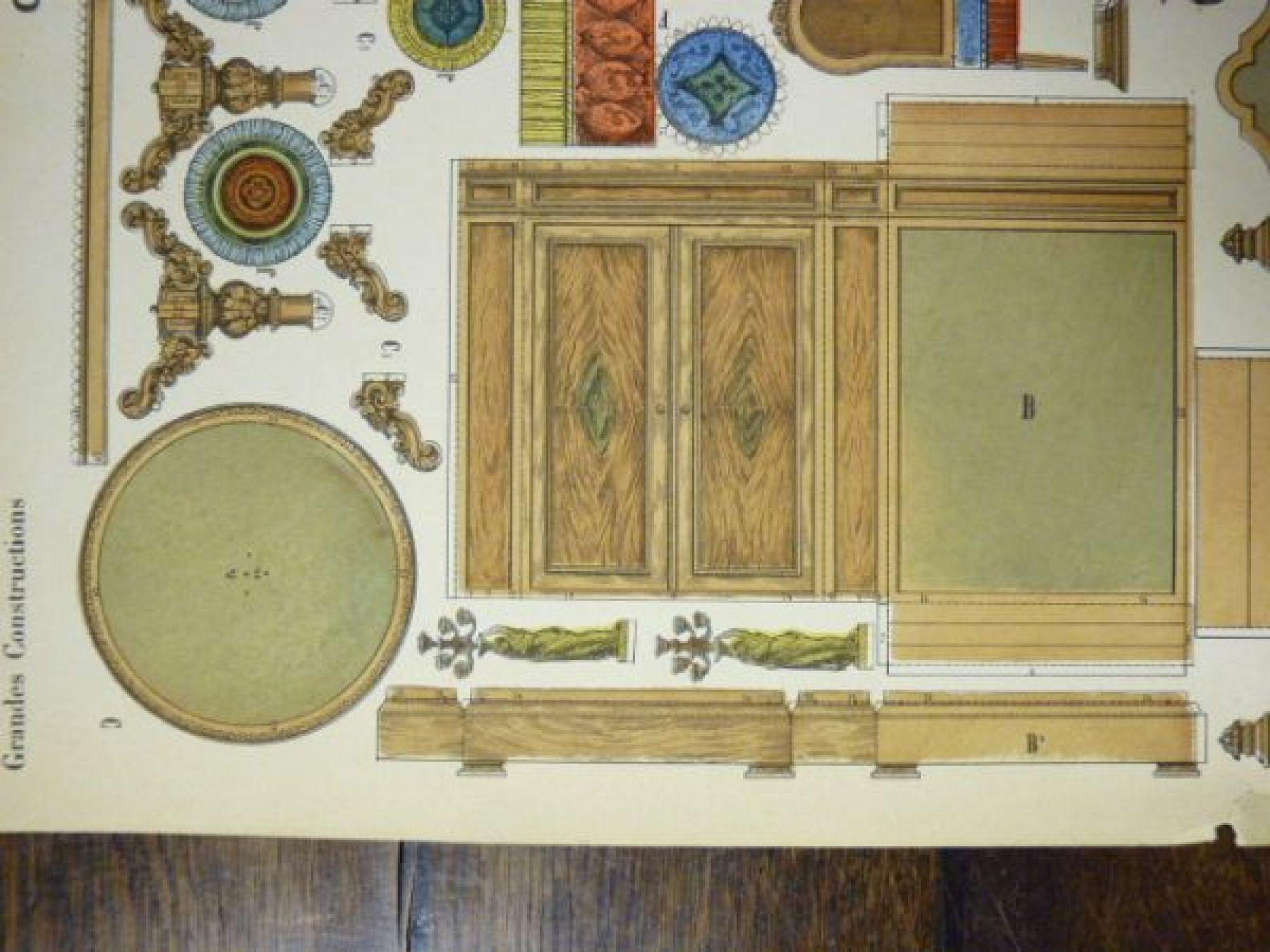 constructions Chambre  coucher Imagerie d épinal Pellerin n°192