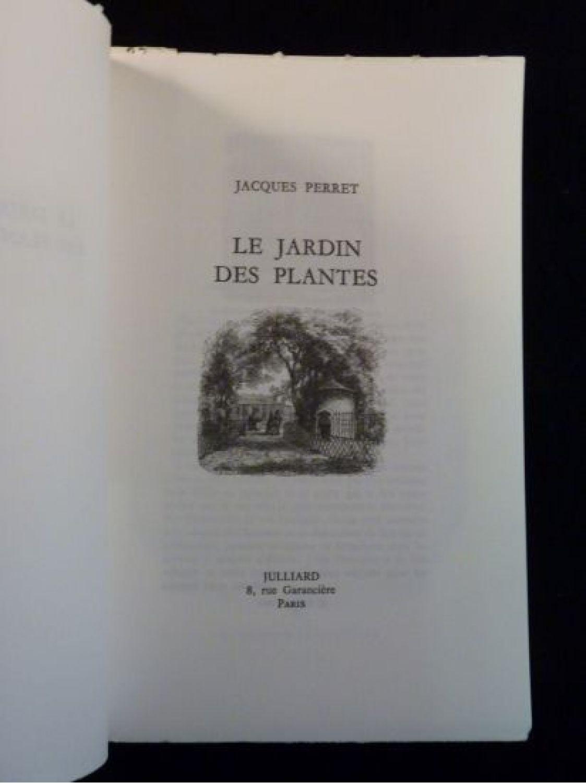 Perret le jardin des plantes first edition edition for Le jardin des plantes