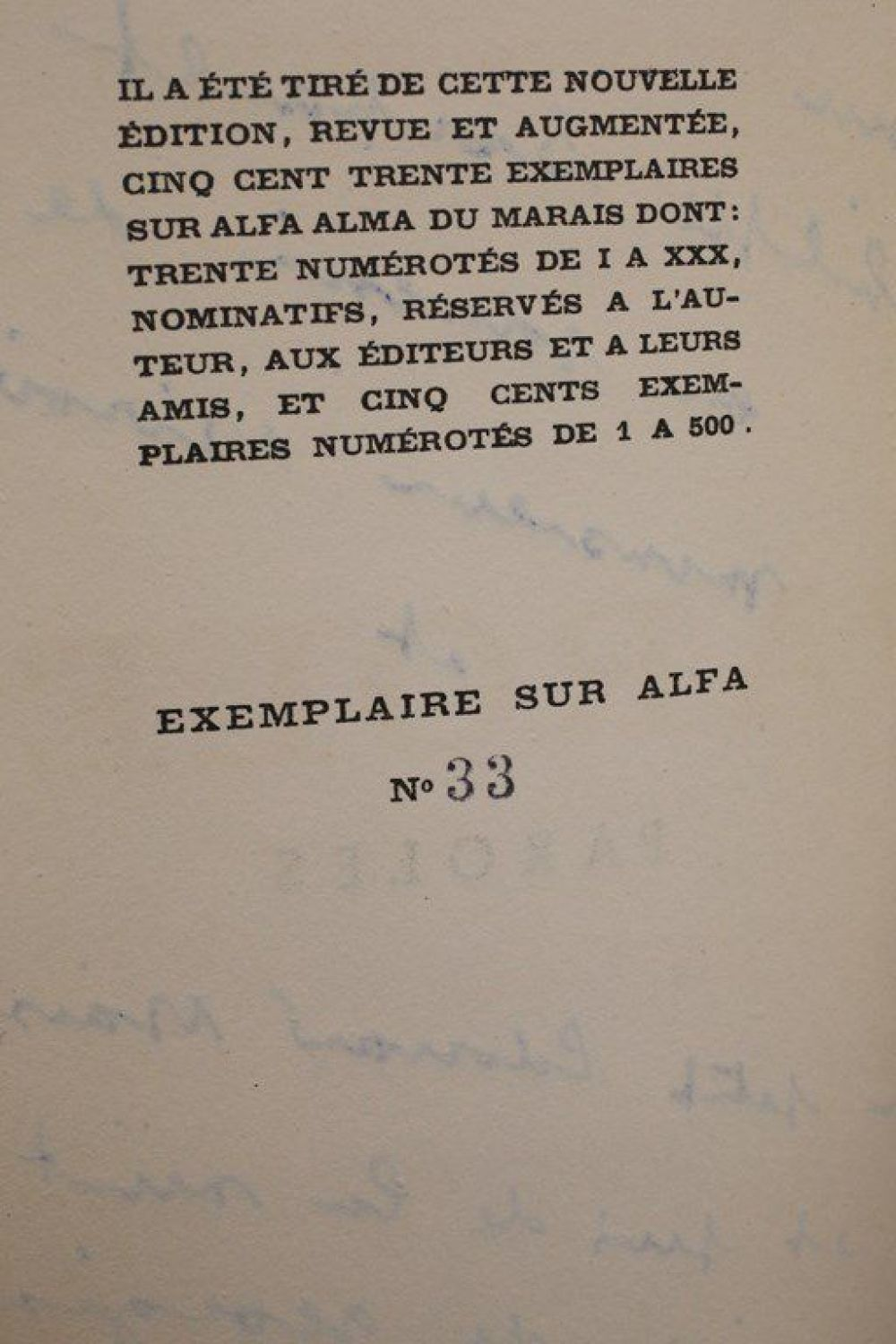 Prevert Paroles Signed Book First Edition Edition