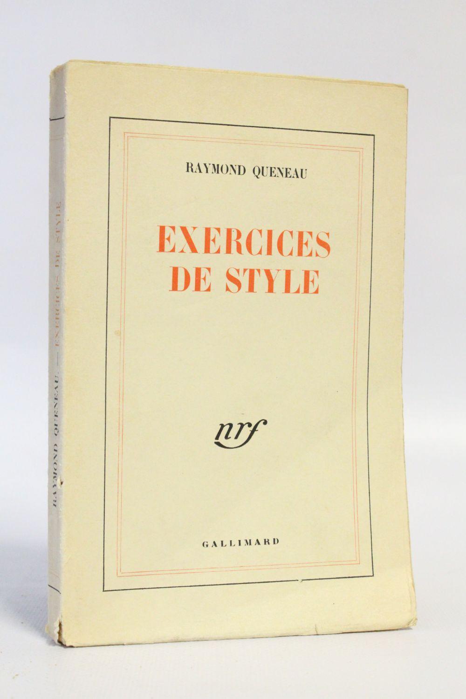 Queneau Exercices De Style First Edition Edition Originale Com
