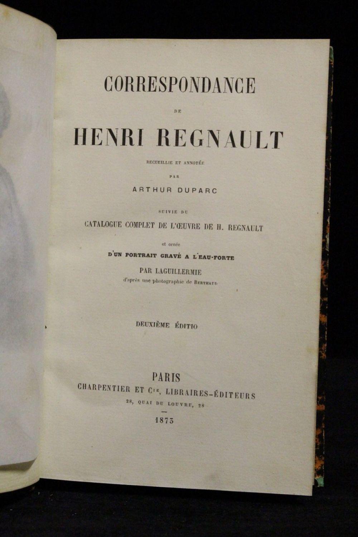 Regnault correspondance recueillie et annot e par arthur for Catalogue de jardinage par correspondance