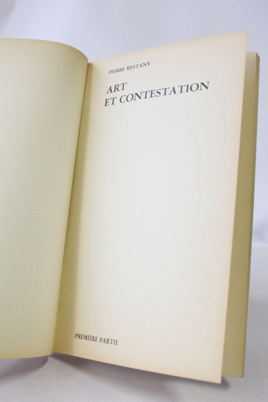 Restany Livre Blanc Objet Blanc First Edition