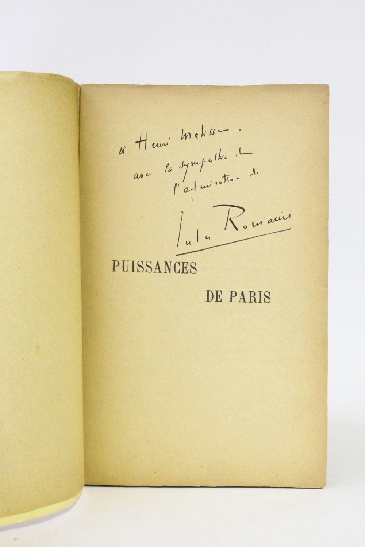 romains puissances de paris signed book first edition edition. Black Bedroom Furniture Sets. Home Design Ideas