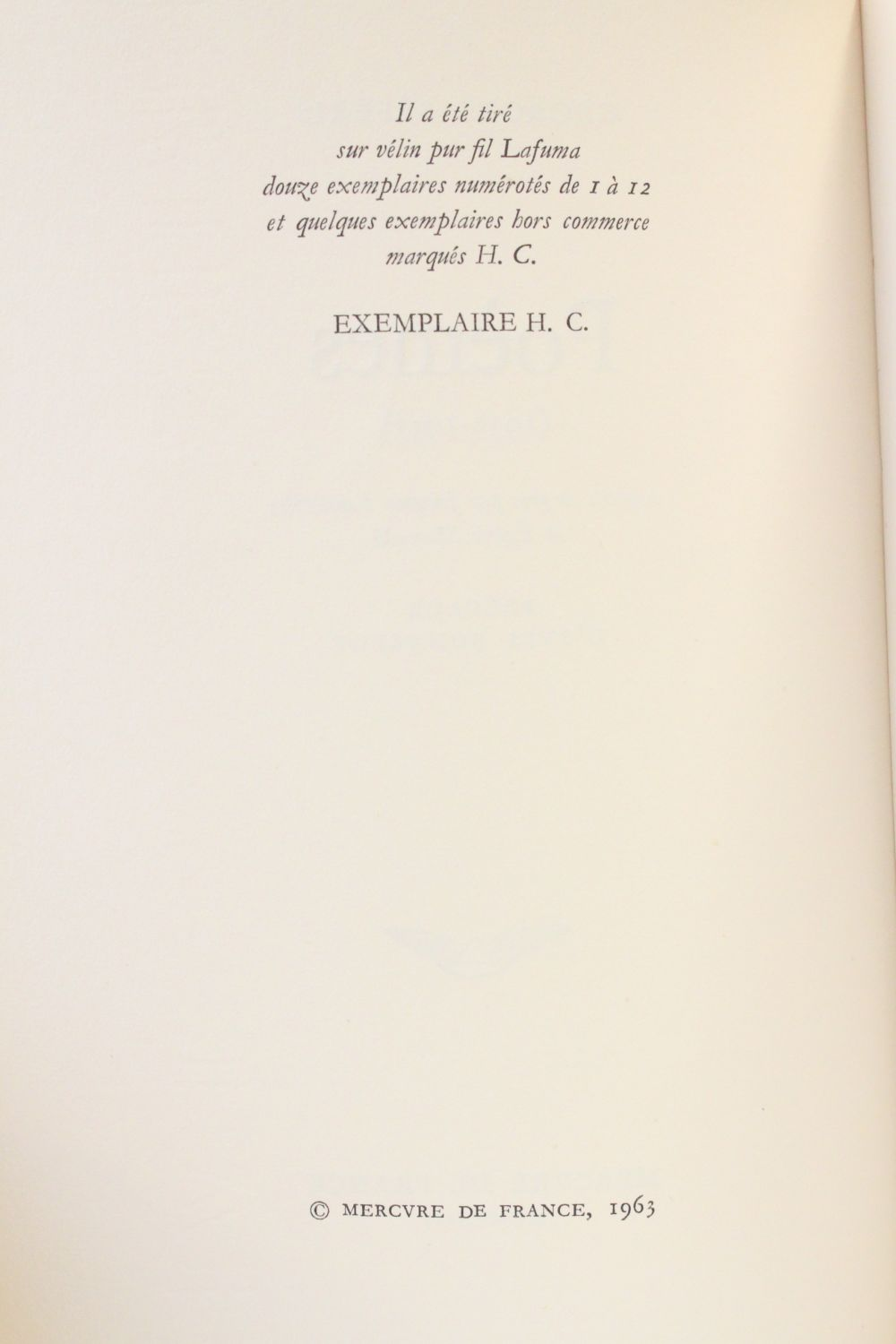 Seferis Poèmes Signed Book First Edition Edition