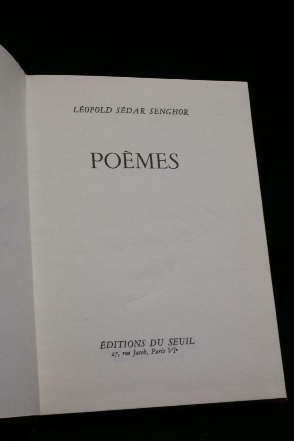 Senghor Poèmes Signed Book Edition Originalecom