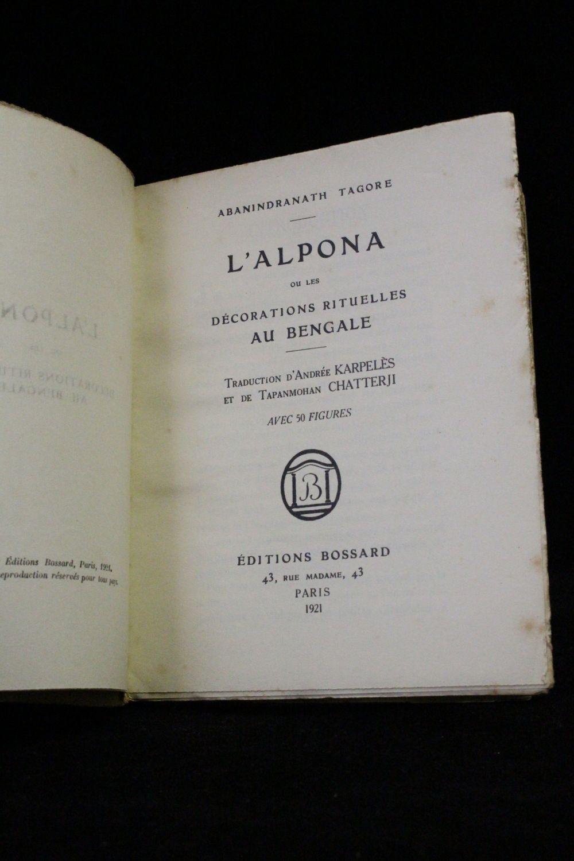 Tagore l 39 alpona ou les d corations rituelles au bengale for Decor traduction