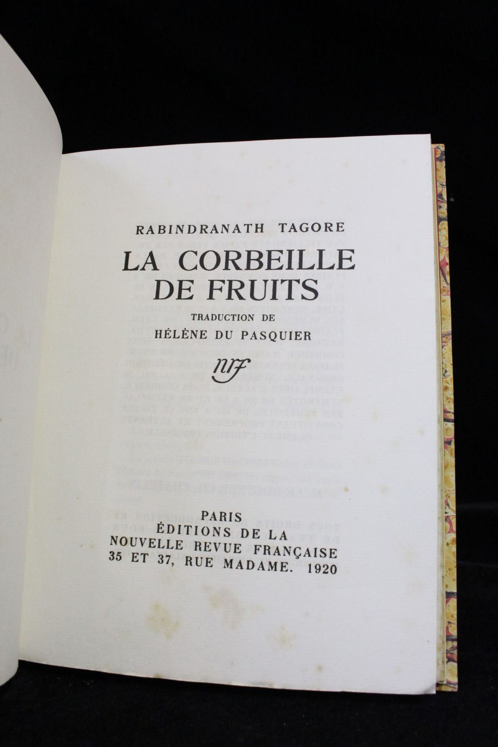tagore la corbeille de fruits first edition edition. Black Bedroom Furniture Sets. Home Design Ideas