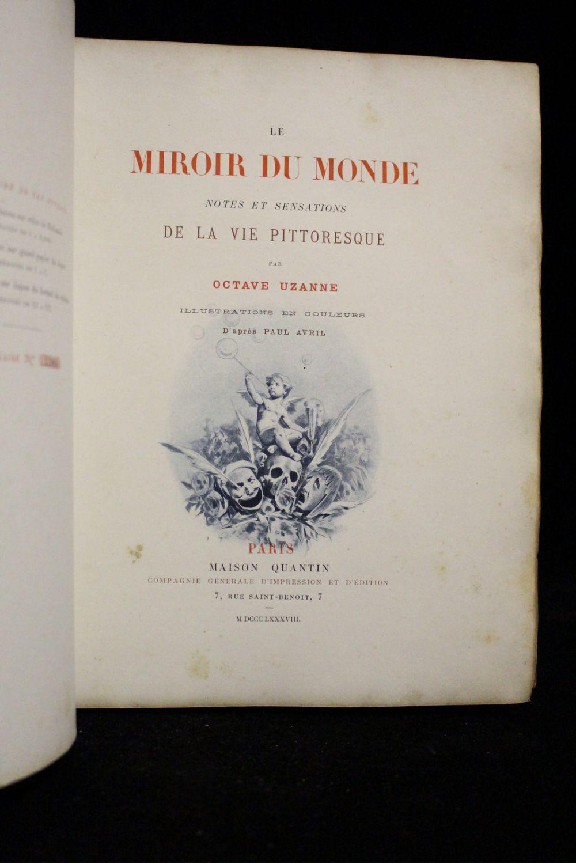 Uzanne le miroir du monde notes et sensations de la vie for Le miroir de ma vie