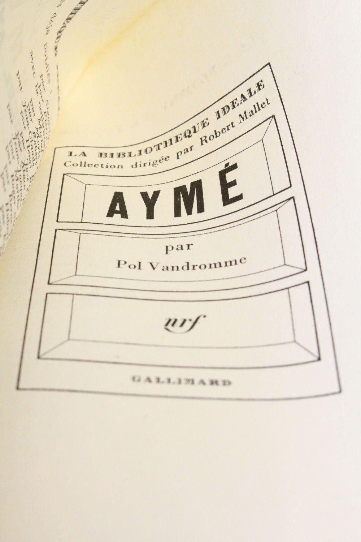 vandromme aym autographe edition originale edition. Black Bedroom Furniture Sets. Home Design Ideas