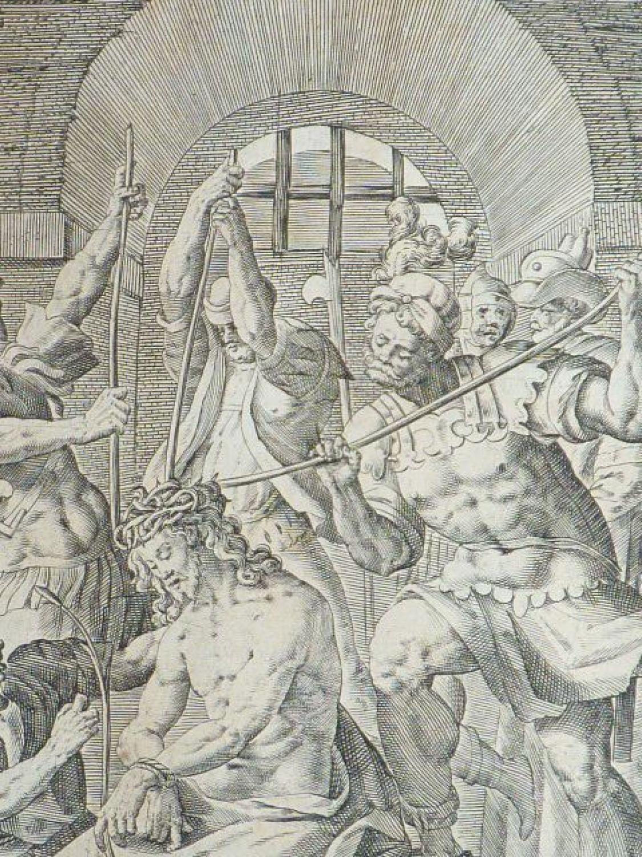 Célèbre La Passion du Christ). Gravure originale du XVIIe siècle - First  XY34