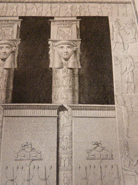 Voyage Dans La Basse Et Haute Egypte Porte Int Rieure Du Temple De Tentyris Vue G Om Trale Du