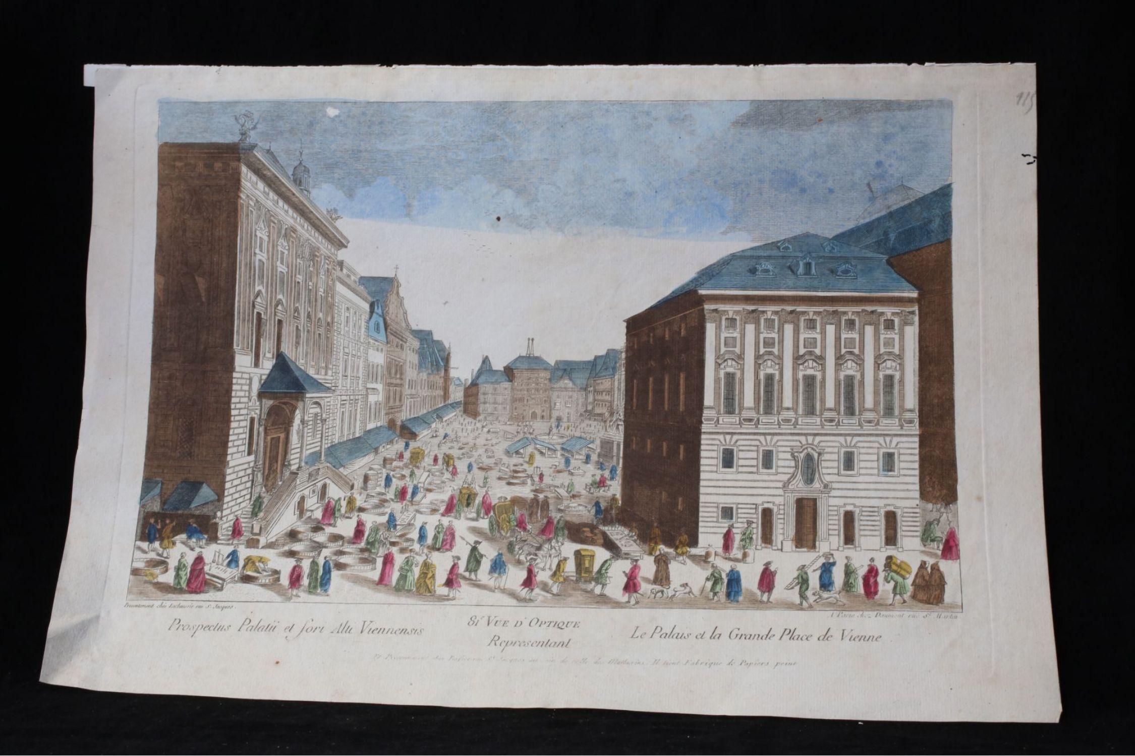 Vue d optique - Le palais et la grande place de Vienne - First edition -  Edition-Originale.com b4b9d04687f7