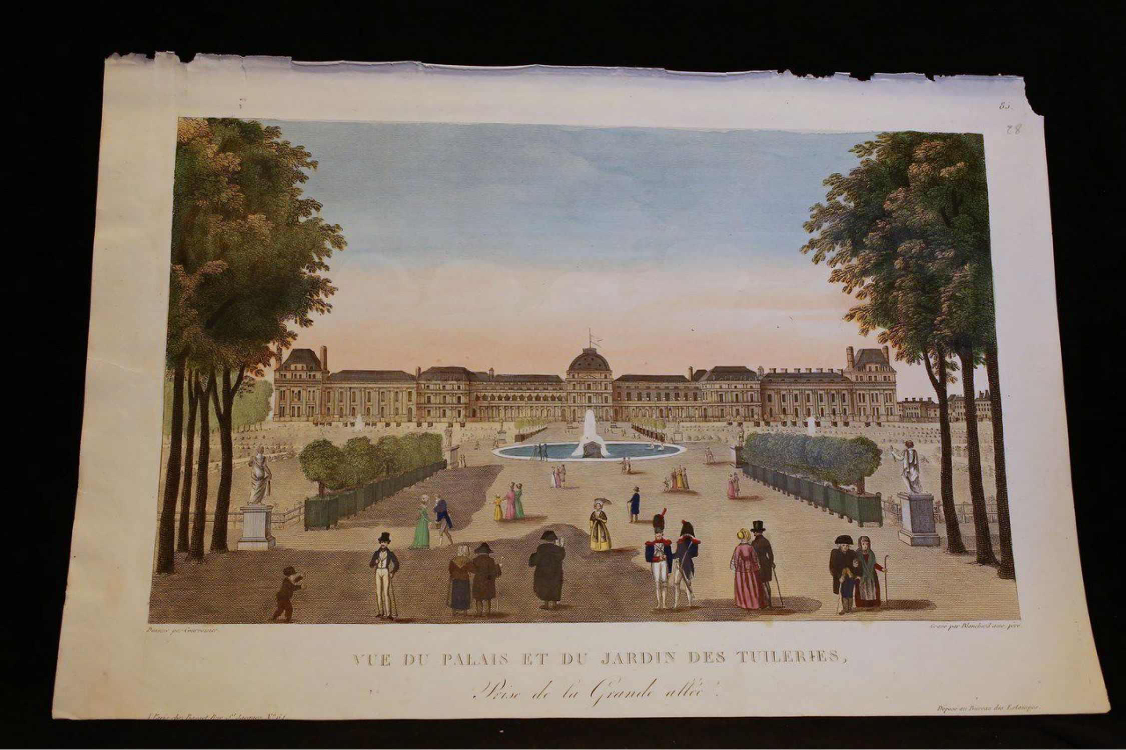 Vue d optique - Vue du Palais et du Jardin des Tuileries - First ... b36b474b0297