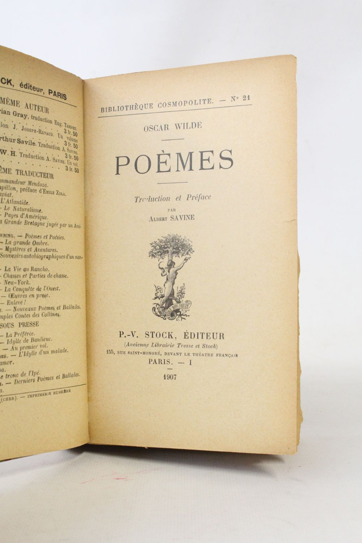 Wilde Poèmes First Edition Edition Originalecom